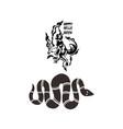 warewolf and snake halloween element vector image vector image