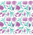 watercolour floral seamless pattern vector image vector image
