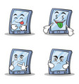 collection stock tablet character cartoon style of vector image