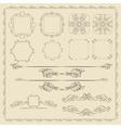 Decorative design elements set vector image