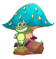 A frog standing above the rock below the giant vector image vector image