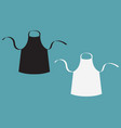 black and white blank kitchen cotton apron set vector image