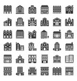 building construction solid icon set 23 vector image