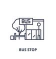 bus stop line icon concept bus stop linear vector image vector image