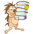 cartoon character hedgehog vector image vector image