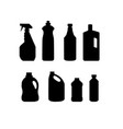 collection cleaning product household vector image