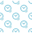 Flat add time pattern vector image vector image