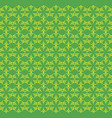flowers pattern ornament green vector image vector image