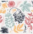 hand-sketched autumn seamless pattern elegant