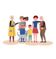 happy smiling family mother and father daughter vector image vector image