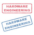 hardware engineering textile stamps vector image vector image