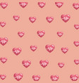 heartbeats pattern background vector image vector image