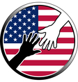 help in USA vector image vector image