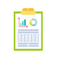 infographics and timeline with info clipboard vector image vector image