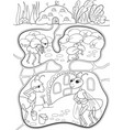 interior and family life of ants in an anthill vector image vector image