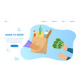 landing page food delivery service vector image