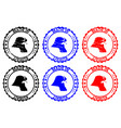 made in kuwait rubber stamp vector image vector image