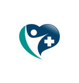 medical logo icon vector image vector image