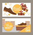 men shoes horizontal banners for advertising vector image vector image