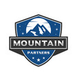 mountain emblem logo vector image vector image