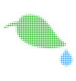 natural leaf with drop halftone icon vector image