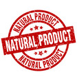 natural product round red grunge stamp vector image vector image