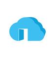 open cloud 3d logo vector image