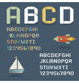 Origami Alphabet with Numbers vector image