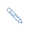 pencil line icon concept pencil flat vector image vector image