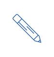 pencil line icon concept pencil flat vector image