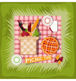 picnic basket cartoon vector image
