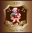 pig in new year s dress vector image