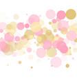 rose gold confetti circle decoration vector image