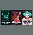 scary banners and posters set horror party vector image