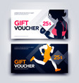 set gym and sport gift voucher template vector image vector image