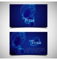 set of business cards with bubbles vector image