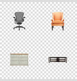 set of decoration realistic symbols with table vector image