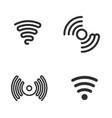 set of wifi black icons vector image vector image