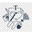 Silhouette icon designer vector image