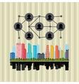 smart city graphic design vector image