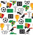 Soccer seamless pattern Brazil summer world game vector image vector image