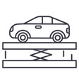 suspensioncar service line icon sign vector image vector image