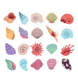 tropical underwater seashell clam oyster shells vector image vector image