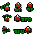 UFO icons vector image vector image