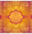 Vintage beige doodle ornament in Indian style vector image vector image