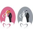 wedding couple 01 vector image vector image