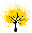 yellow color tree background vector image