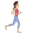 Fitness woman jogging vector image