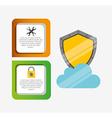 hosting infographic design vector image