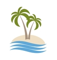 palm logo isolated vector image
